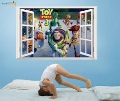 Best Selling Toy Story 3 Cartoon 3d Window Scenery Wall Decals Sticker For Kids Rooms Home Nursery Kids Rooms Decor 1403 Sticker For Kids Room Wall Decals Stickersstickers For Aliexpress