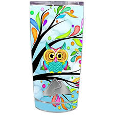 Skin Decal Vinyl Wrap For Ozark Trail 20 Oz Tumbler Cup 5 Piece Kit Stickers Skins Cover Colorful Artistic Owl In Tree Walmart Com Walmart Com