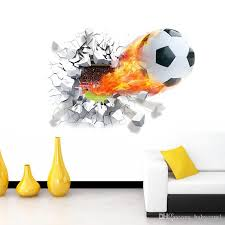 Firing Football Through Wall Stickers Kids Room Decoration Home Decals Soccer Funs 3d Mural Art Sport Game Pvc Poster 5 0 Baby Room Walls Baby Room Wall Decoration From Babycare1 9 75 Dhgate Com