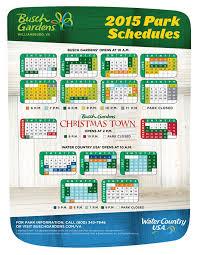 busch gardens williamsburg schedule