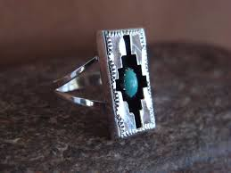 Navajo Indian Jewelry Turquoise Shadow Box Ring by Felix Perry! Size 6 1/2  | Turquoise jewelry, Indian jewelry, Ring box