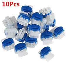 10pcs Lot Blue Plastic White Color Waterproof Cable Connector Crimps Wire Connectors For Robotic Lawnmower Electric Dog Fence Automotive Electronics Underground Cable Assembly Wish