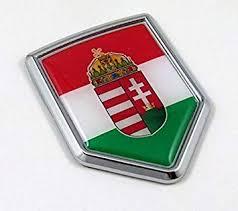 Amazon Com Hungary Flag Car Hungarian Chrome Emblem Decal Sticker Automotive