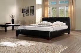 dorado black faux leather bed frame up