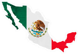 Mexico Map And National Flag Sticker