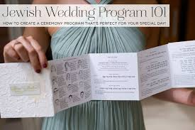 jewish wedding program 101 how to
