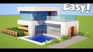 سلسلة بناء بيوت ماين كرافت كيف بناء بيت مودرن سهل جدا ماين كرافت