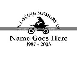 In Loving Memory Of Dirt Bike Motorcycle Memorial Vinyl Window Decals In Loving Memory Of Car Truck Stickers