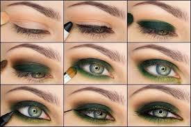 green makeup for green eyes makeup