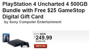 cut ps4 uncharted 4 bundle