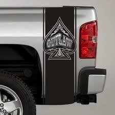 Outlaw Spade Truck Bed Stripe Decals Pair Skunkmonkey