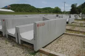 Precast Concrete Feed Bunks Fenceline And H Bunks Wieser Concrete