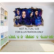 Descendants 3 3d Effect Wall Sticker Decal Bedroom Xxxl 130cm X 100cm Amazon Co Uk Diy Tools