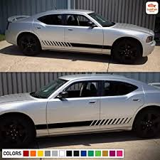 Amazon Com Lower Side Door Stripes Decal Graphic Vinyl Compatible With Dodge Charger 2006 2020 Automotive