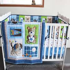 ins baby bedding set embroidery 3d dog