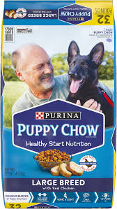puppy chow large breed en flavor