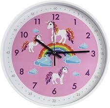 Amazon Com Pink Wall Clock Silent Non Ticking Children S Decor Quiet Clocks For Kids Room Office School Bedroom Kitchen Classroom 12 Inch Pink Kitchen Dining