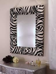 zebra print mirror by x