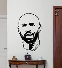 Amazon Com Thierry Henry Wall Decal Arsenal Barcelona Football Soccer Player Vinyl Sticker Sport Wall Art Design Housewares Living Room Bedroom Decor Removable Wall Mural 123zzz Home Improvement