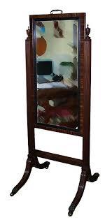 regency mahogany cheval mirror for