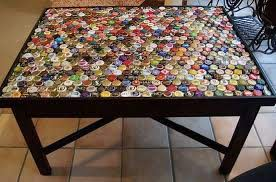 bottle cap coffee table step 4