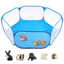 Lightsmile Strong Practicability Breathable Transparent Folding Pet Small Animals Tent Portable Yard Fence Dog House Cage Easy Operation Outdoor Indoor Exercise Fence Lazada Ph