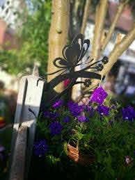 Over The Fence Post Panel Hanging Basket Bracket Scroll Design Hook For Sale Ebay