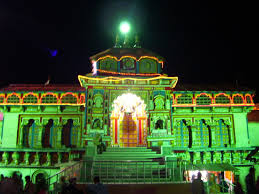 Public Domain Picture   Entrance of Badrinath Temple at night ...