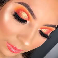 sunset eye makeup look saubhaya makeup