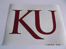 University Of Kansas Decal Sticker For Laptop Car Or Window And Much More 4 99 Picclick