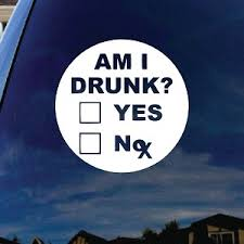 Am I Drunk Funny Alcoholic Car Window Vinyl Decal Sticker