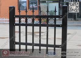 1 8m X 2 1m Ornamental Welded Metal Fence Panels With Black Color Pvc Coated