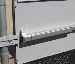 Panic Bar Mounting Plate For Chain Link Fence Gates Panic Shield For Lockey Panic Bars
