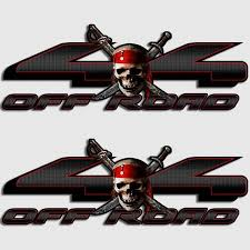 Ford Jolly Roger Edition Truck Decals F 150 Pirate Skull Lariat Sticker