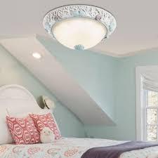 seashell ceiling light seaside glass