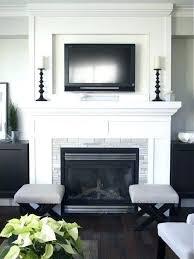 mantel decor with tv ilfattooggi info