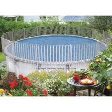 Pool Fence Pool Decks For Above Ground Swimming Pools