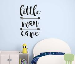 Little Man Cave Wall Decals Kids Wall Quotes Nursery Wall Stickers Boys Room Door Wall Decoration Mural Wallpaper G800 Wall Stickers Aliexpress