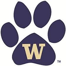 Amazon Com 3 Inch Paw Uw W University Of Washington Huskies Logo Removable Wall Decal Sticker Art Ncaa Home Room Decor 3 5 By 3 5 Inches Baby