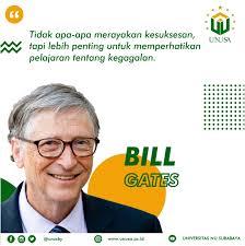 quotes bill gates universitas nu surabaya