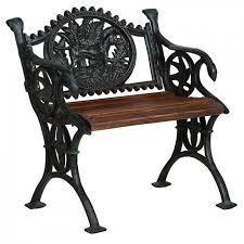 small ornate cast iron garden bench