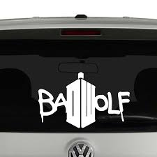 Doctor Who Bad Wolf Vinyl Decal Vinyl Decals Vinyl Decal Stickers Bad Wolf