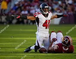 Atlanta Falcons S 41 Sharrod Neasman indicates Editorial Stock Photo -  Stock Image | Shutterstock