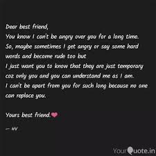dear best friend you kno quotes writings by harsh verma