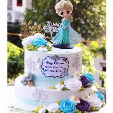 Công chúa ELSA - Búp bê trang trí - Phụ kiện trang trí bánh kem - Đồ trang  trí bánh kem - Phụ kiện trang trí bánh sinh nhật