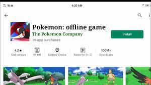 Pokemon 3D offline game download for android/Pokemon offline game ...