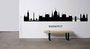 Budapest City Hungary Grunge Travel Stamp Car Bumper Sticker Decal 5 X 4
