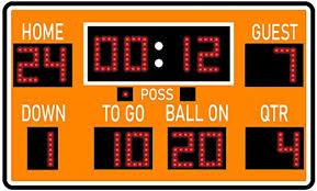 Amazon Com Vwaq Football Scoreboard Wall Sticker Peel And Stick Sports Decor Vinyl Decal Pas30 18 H X 30 W Orange Home Kitchen