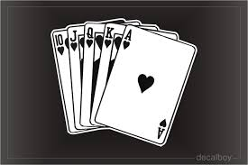 Playing Cards Decals Stickers Decalboy