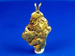 pendant made from a gold nugget from